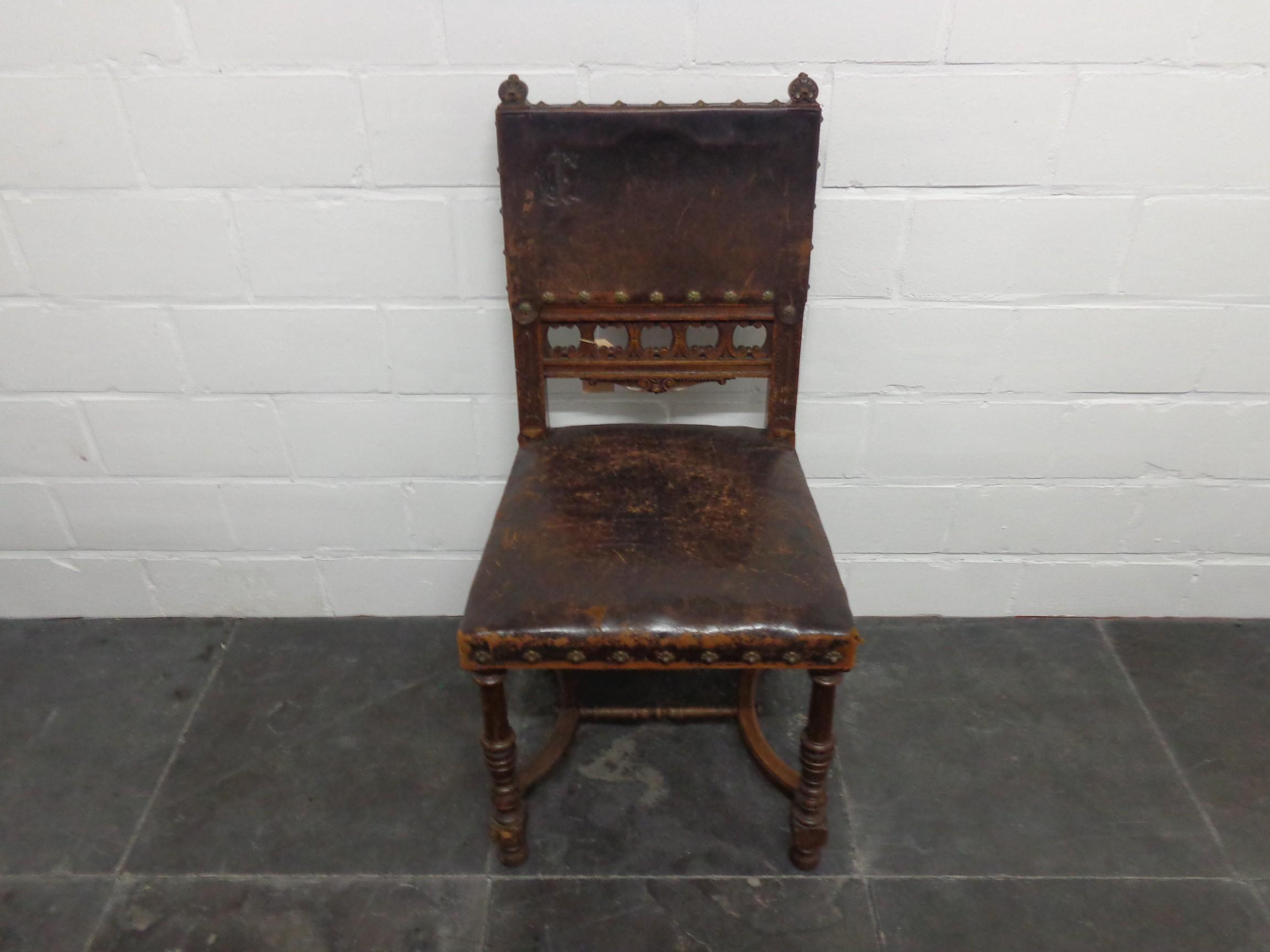 6 oud lederen stoelen for Lederen stoelen
